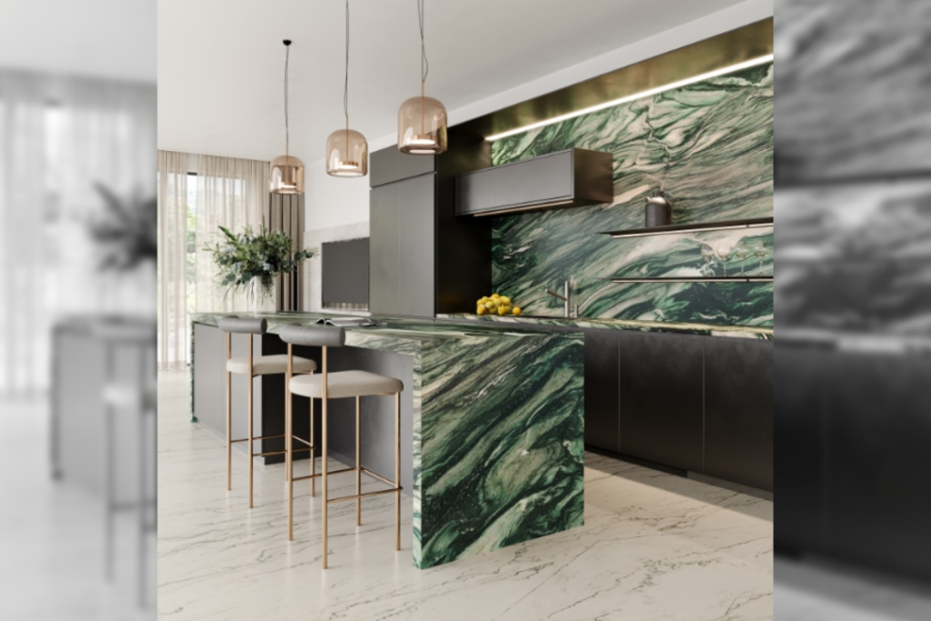 Kitchen Counter: Passione   Flooring: Ongie