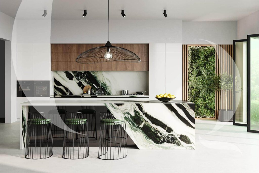 The Quarry Curated Dalmata Marble Kitchen Counter