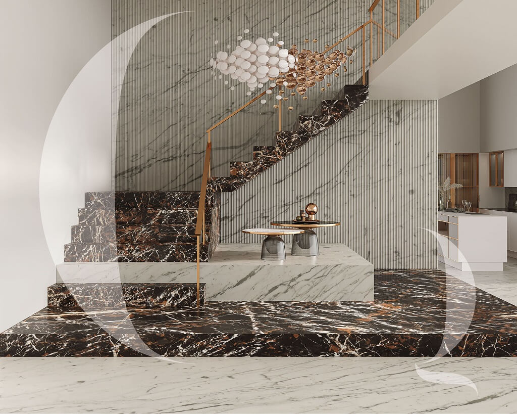 The-Quarry-Curated-Black and-Gold-granite-and-Carrara-marble