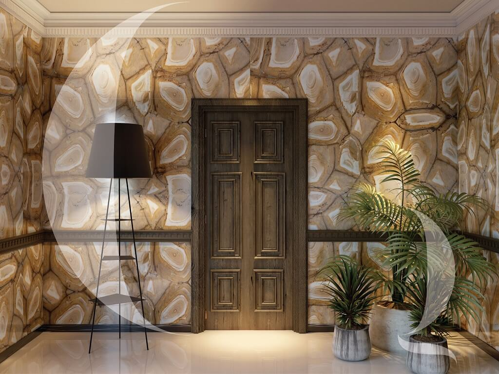 The-Quarry-Curated-Stonewood-wall-cladding-for-entryway-India