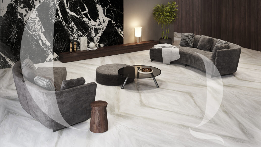 Bianco Lasa Greyette_ Living room