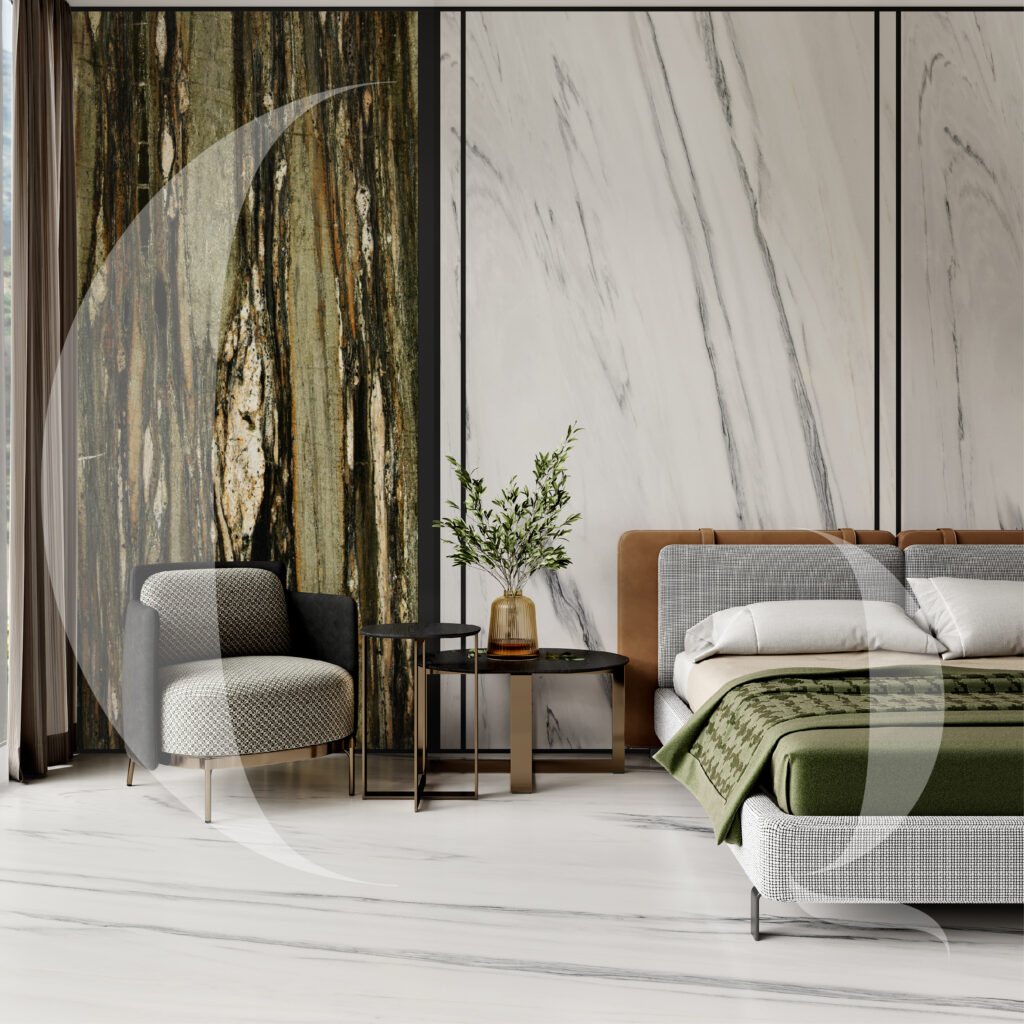 Tropical fashion and Bluette Greyette _ bedroom